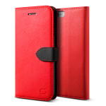 Lific Saffiano Diary for iPhone7 (Red+Black)