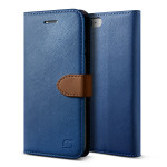 Lific Saffiano Diary for iPhone7 (Darkblue+Brown)