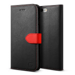 Lific Saffiano Diary for iPhone7 Plus (Black+Red)