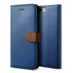Lific Saffiano Diary for iPhone7 Plus (Darkblue+Brown)