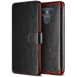 VRS DESIGN Dandy Layered Leather for LG G6 (Black+Wine)