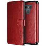 VERUS Dandy Layered Leather for LG G6 (Wine+Black)