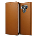 VRS DESIGN Genuine leather diary case for LG G6 (Brown)