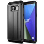 VERUS HARD DROP for Galaxy S8 Plus (Waved Dark Silver)