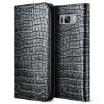 VERUS Genuine Croco diary for Galaxy S8 (Dark Silver)