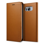 VERUS Genuine Leather Diary for Galaxy S8 Plus (Brown)