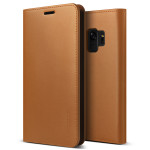 VRS DESIGN(VERUS) Genuine Leather Diary for Galaxy S9 (Brown)