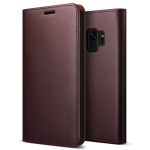 VRS DESIGN(VERUS) Genuine Leather Diary for Galaxy S9 (Wine)