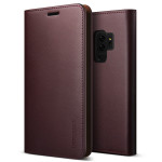 VRS DESIGN(VERUS) Genuine Leather Diary for Galaxy S9 Plus (Wine)