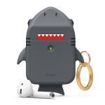 elago SHARK CASE for AirPods /AirPods 2nd Charging / AirPods 2nd Wireless (Dark Gray)