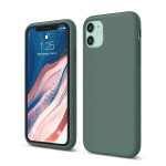 elago SILICONE CASE 2019 for iPhone11 (Midnight Green)