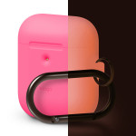 elago AIRPODS HANG CASE for AirPods 2nd Generation Wireless Charging Case for AirPods 2nd Wireless (Neon Pink)
