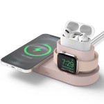 elago CHARGING HUB TRIO 1 for MagSafarger / Apple Watch Charger / Lightning Cable (Sand Pink)