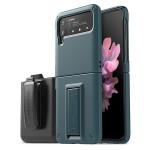 VRS DESIGN(VERUS) Quickstand Modern+Multi Clip for Galaxy Z Flip3 (5G) (Ash Green)
