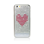 Bling My Thing Extravaganza Heart for iPhone6/6s (Silver_Pink Heart)