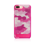 Bling My Thing Cascade Camouflage for iPhone7 Plus (Pink)
